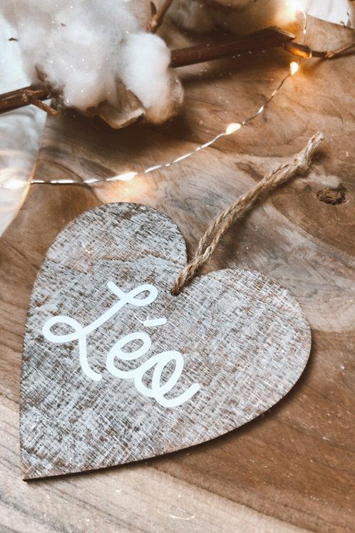 Coeur en bois personnalisable