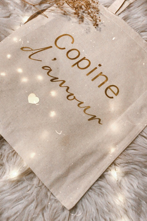 Tote bag Copine d'amour