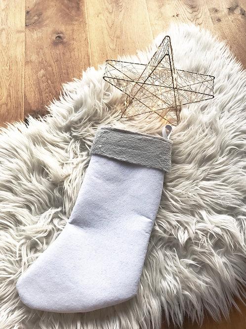 Chaussettes de Noël Blanche