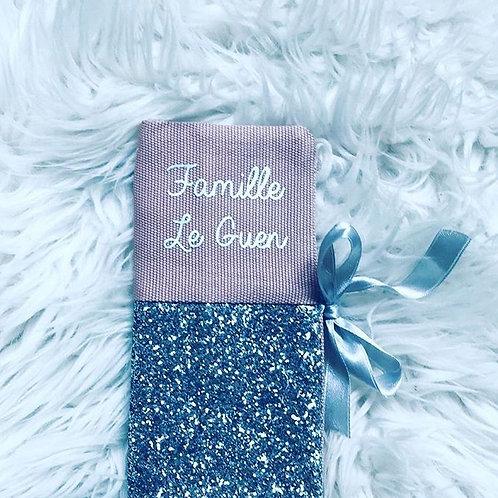 Livret de famille pink Silver glitter