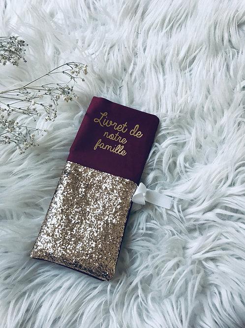 Livret de famille Lie de vin Gold Glitter