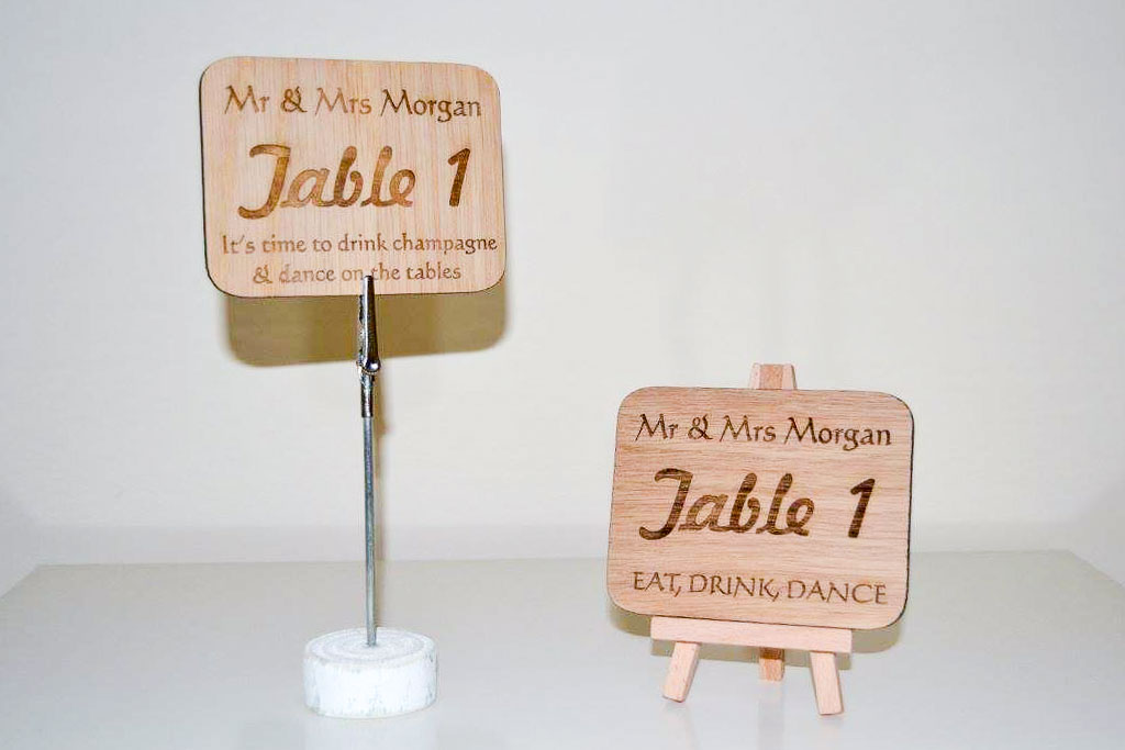 Table Numbers (1 of 10)