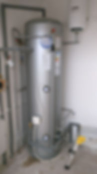 Unvented hot water cylinder tank