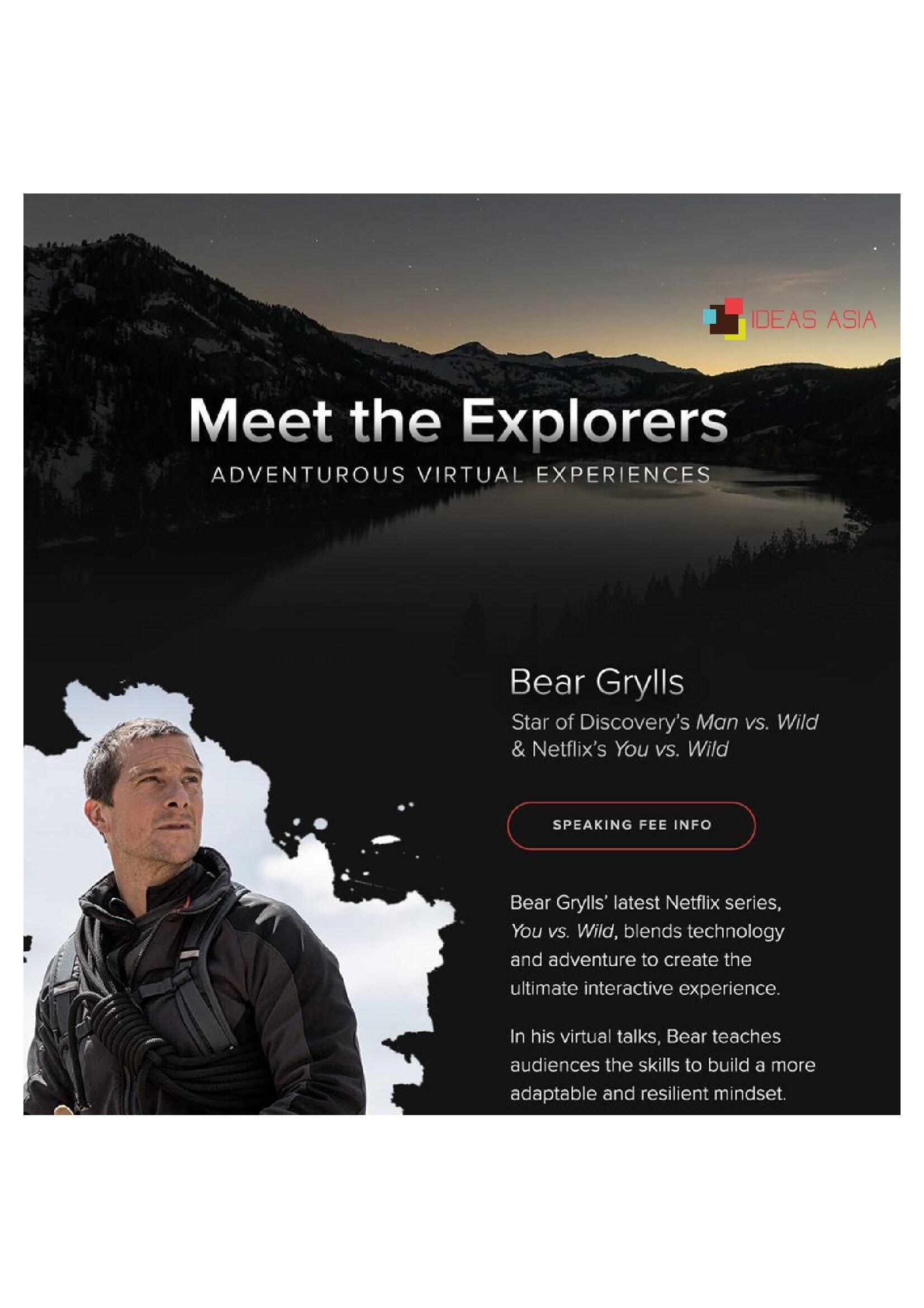 Bear Grylls - IDEAS ASIA Speakers Bureau