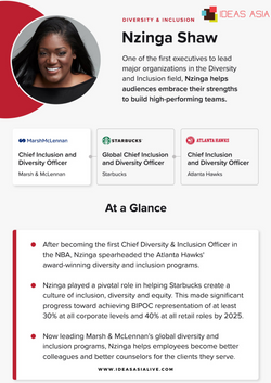 Nzinga Shaw, Chief Inclusion and Diversity Officer, Marsh & McLennan - IDEAS ASIA