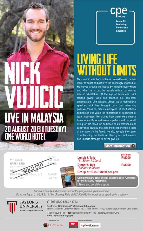 Nick Vujicic - IDEAS ASIA Motivational Speaker