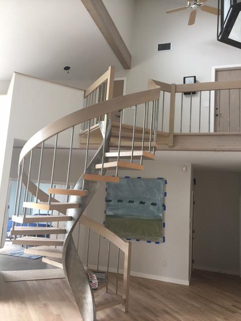Spiral Stairs refinish | Finewoodfinish.com