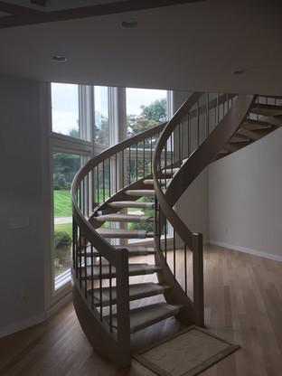 stairs refinish   Finewood finish.com