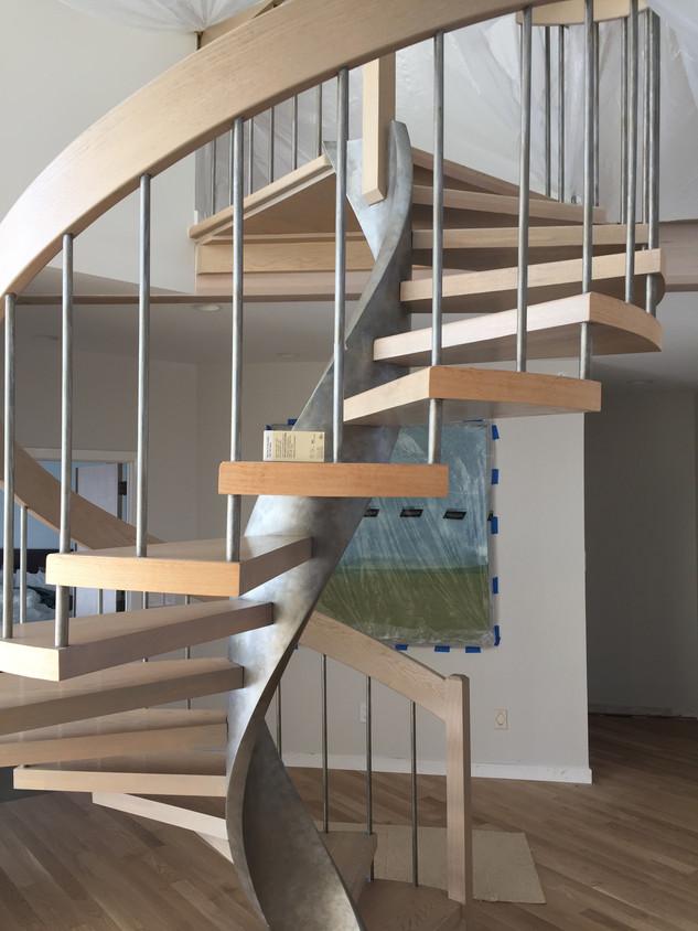 Stairs Refinish   Finewoodfinish.com