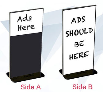 Table Stand Ads