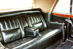 Rolls Royce interior with roof up