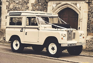 Land Rover Series 3 For Hire Wedding car