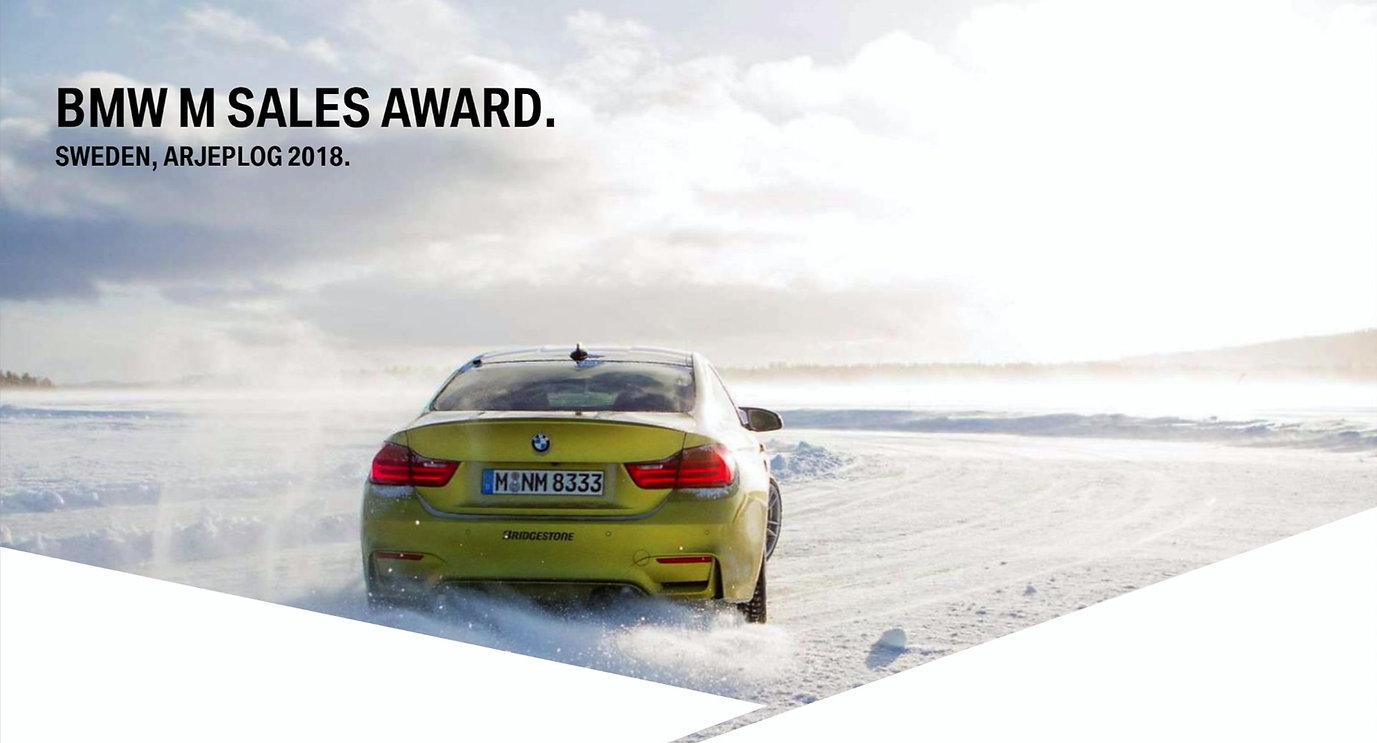 BMWDavid.com M Sales Award Arjeplog, Sweden 2018