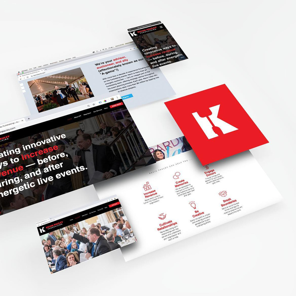 Kevin Pauley Fundraising Brand + Website