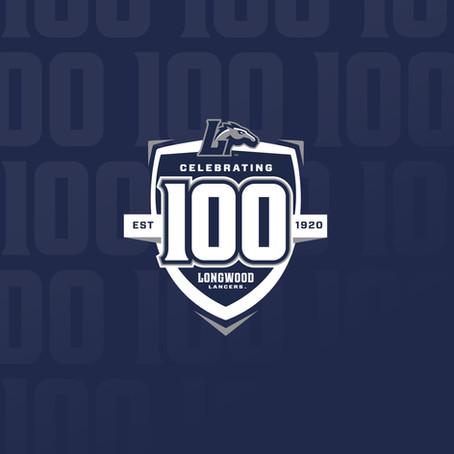 Longwood Athletics 100 Season Celebration Logo
