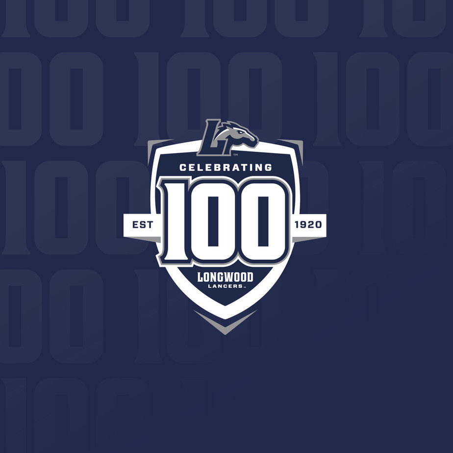 Longwood Athletics 100 Season Celebration Logo