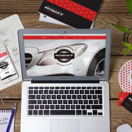 Redman's Elite Detailing Branding + Website