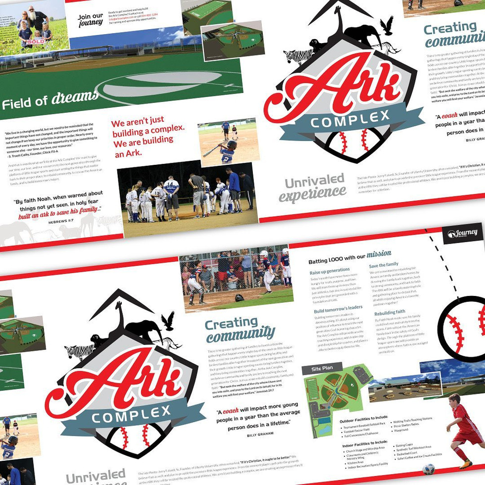 ARK Complex Branding, Brochure, and Wall Banner