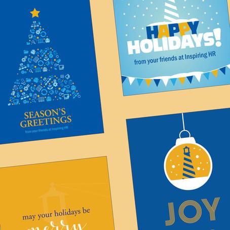 Inspiring HR Holiday Card Designs