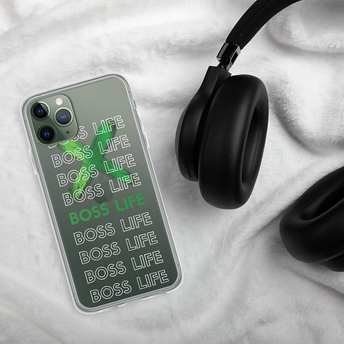 Boss Life - Clear iPhone Case