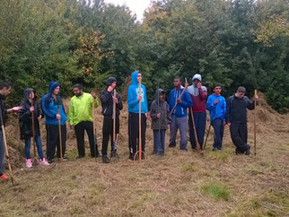 Students help at Horsenden Meadow