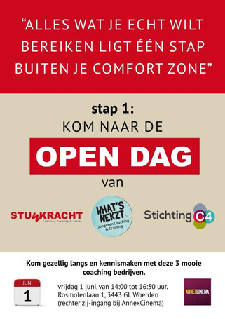 Open dag Stuwkracht, Stichting C4 en WhatsNekzt - 1 juni 2018