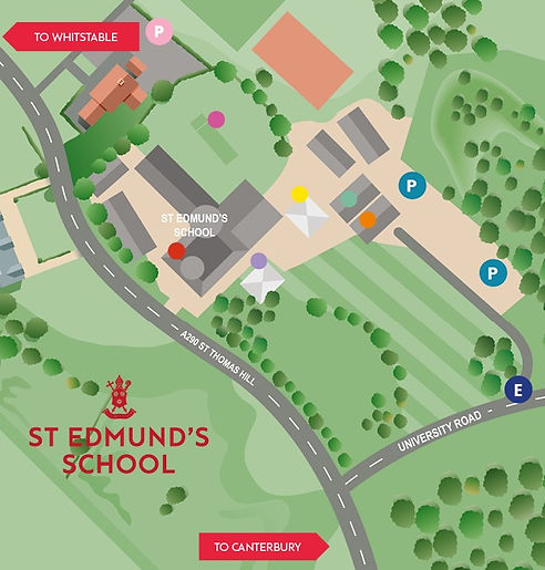 St Edmund's Map