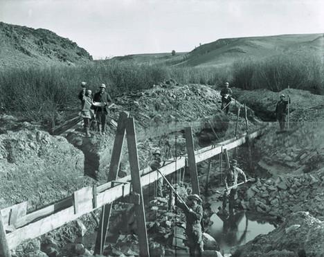 A flume along Granier's ditch