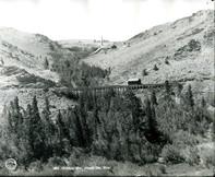 A flume over Rock Creek