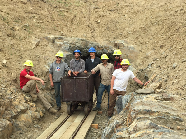 State Parrks Vetran Work Crew at the English Tunnel