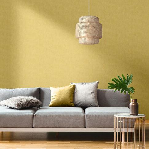 muriva_plain_linen_texture_ochre_wallpap