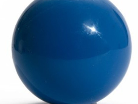 כדור כחול של שמחה