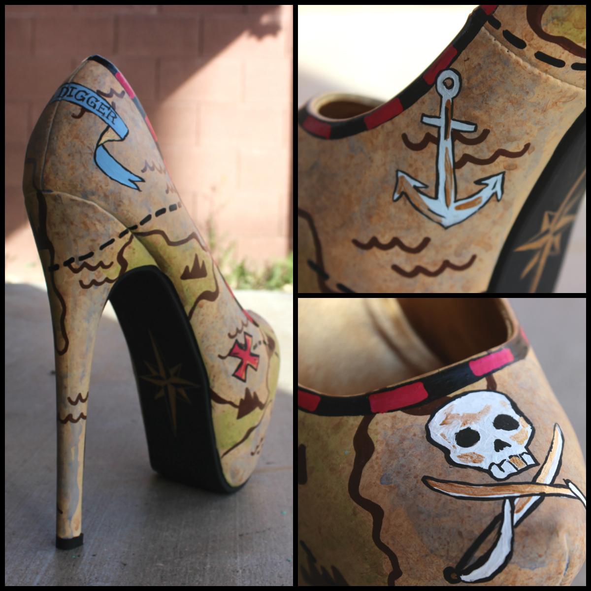 Hand-Painted Stilettos