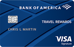 Bank of America Travel Rewards credit card review!