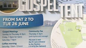 Gospel Tent Liverpool - Sat 2nd June - 26th June 2018