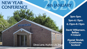 New Years Conference 2020 @ 15:00pm