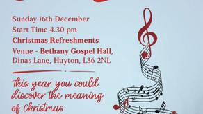 Carol Service Sunday 16th Dec @ 4:30pm 2018