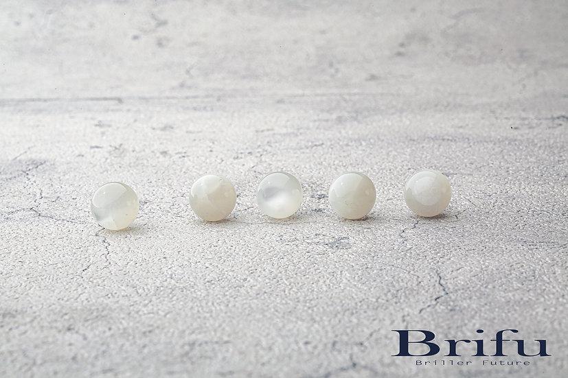 ホワイトムーンストーン|12mm|【5A】