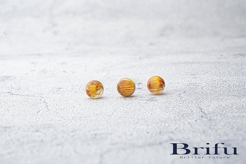 【5A】高品質ルチルクォーツ|10mm