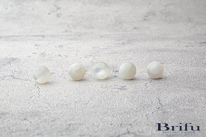 ホワイトムーンストーン|10mm|【5A】