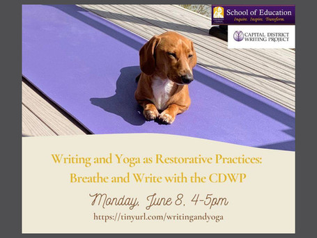 Join us Monday for a free yoga / writing event