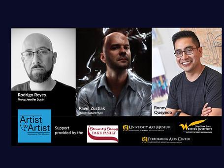 Artist to Artist: Ronny Quevedo, Rodrigo Reyes, and Pavel Zuštiak
