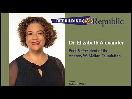 Dr. Elizabeth Alexander – poet, educator, memoirist, scholar, and cultural advocate