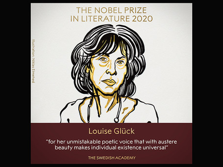 Congratulations to our friend, Louise Glück, on her Nobel Prize