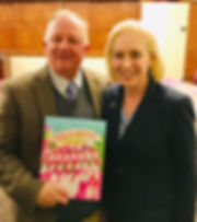 Paul Grondahl and Senator Kirsten Gillibrand