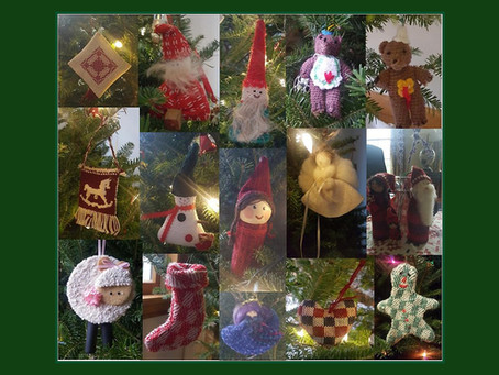 A Christmas tree decorated with handwoven stories