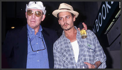 Hunter Thompson and Johnny Depp (undated photo)
