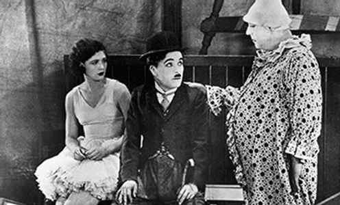 "Merna Kennedy, CharlieChaplin and Henry Bergman in ""The Circus"""