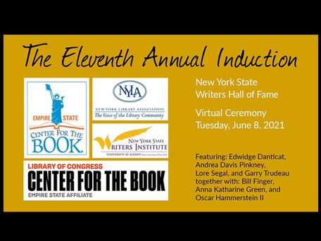 Watch: The NYS Writers Hall of Fame Ceremony