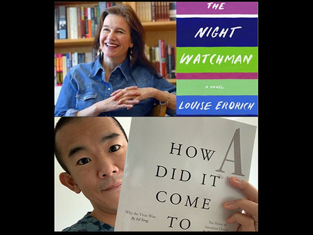 Congratulations to Pulitzer winners Louise Erdrich and Ed Yong